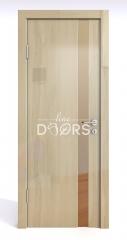 Дверь межкомнатная DO-507 Анегри светлый/зеркало Бронза