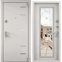Дверь TOREX SUPER OMEGA 100 Бьянко муар / Шамбори светлый с зеркалом