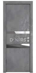 Дверь межкомнатная DO-512 Бетон темный/Зеркало