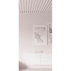 Декоративная рейка на потолок Сосна белая