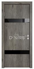 Дверь межкомнатная TL-DO-502 Серый кедр/стекло Черное