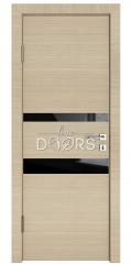 Дверь межкомнатная DO-512 Неаполь/стекло Черное