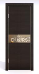 ШИ дверь DO-609 Венге горизонтальный/зеркало Бронза