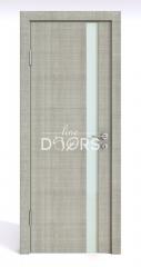 Дверь межкомнатная DO-507 Серый дуб/стекло Белое