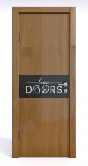 Дверь межкомнатная DO-501 Анегри темный/стекло Черное