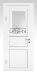 Дверь межкомнатная DO-PG4 Белый бархат/Ромб