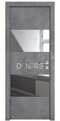 ШИ дверь DO-608 Бетон темный/Зеркало