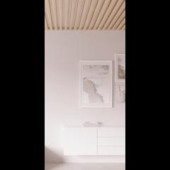 Декоративная рейка на потолок Сенди