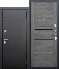 Входная металлическая дверь Ferroni 10,5 см Чикаго Царга дуб шале графит с МДФ панелями