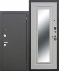 Входная дверь Ferroni Царское зеркало Муар Белый ясень