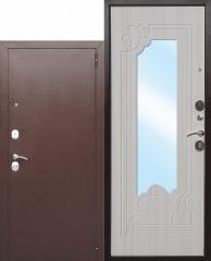 Входная дверь Ferroni с зеркалом Ампир Белый ясень