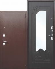 Входная металлическая дверь Ferroni с зеркалом Ампир Венге