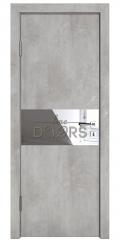 Дверь межкомнатная DO-501 Бетон светлый/Зеркало