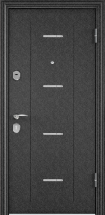 Дверь TOREX DELTA-112 Черный шелк / Венге поперечное ПВХ Венге поперечное