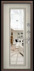 Дверь TOREX DELTA-112 Медный антик / Белый перламутр