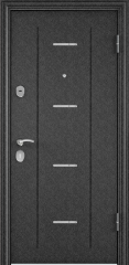 Дверь TOREX DELTA-M 10 COMBO Черный шелк / Белый перламутр