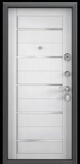 Дверь TOREX DELTA-M 10 COMBO Черный шелк / Лиственница белая ПВХ Лиственница белая