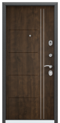 Дверь TOREX DELTA-M 12 Черный шелк / Орех грецкий Орех грецкий