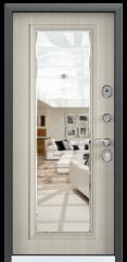 Дверь TOREX DELTA-M 12 COMBO Черный шелк / Белый перламутр