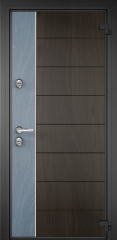 Дверь TOREX DOMANI 100 Черное дерево / Синий гиацинт