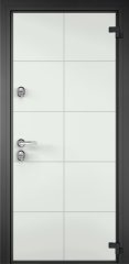 Дверь TOREX DOMANI 100 RAL 9016 белый / Темный-пепел ПВХ Темный-пепел