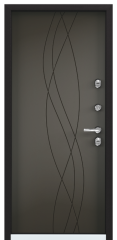 Дверь TOREX SNEGIR 20 Черный муар металлик / Молочный шоколад ПВХ молочный шоколад