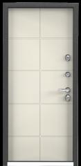 Дверь TOREX SNEGIR 55 RAL 8017 коричневый / Слоновая кость ПВХ слоновая кость