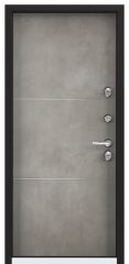Дверь TOREX SNEGIR 55 RAL 8019 / ПВХ Бетон темный