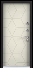 Дверь TOREX SNEGIR 55 RAL 8019 / Слоновая кость ПВХ слоновая кость