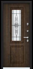 Дверь TOREX SNEGIR 55C-01 RAL 8019 / Орех грецкий Орех грецкий