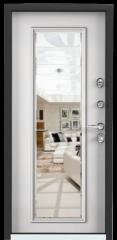 Дверь TOREX SUPER OMEGA 100 Черный муар металлик / Белый Белый