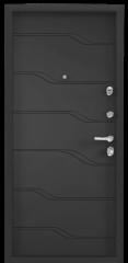 Дверь TOREX SUPER OMEGA 100 Черный муар металлик / СТ Графит матовый