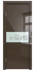 Дверь межкомнатная DO-501 Шоколад глянец/стекло Белое