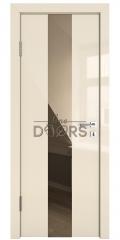 Дверь межкомнатная DO-510 Ваниль глянец/зеркало Бронза