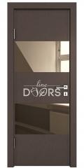 Дверь межкомнатная DO-508 Бронза/зеркало Бронза