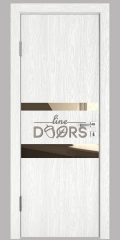 ШИ дверь DO-612 Белый глубокий/зеркало Бронза