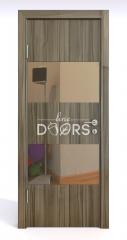 Дверь межкомнатная DO-508 Сосна глянец/зеркало Бронза