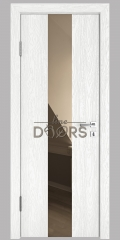 ШИ дверь DO-610 Белый глубокий/зеркало Бронза