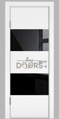 ШИ дверь DO-608 Белый бархат/стекло Черное
