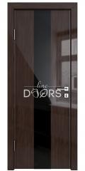 ШИ дверь DO-610 Венге глянец/стекло Черное