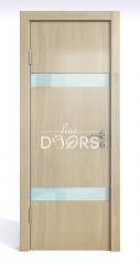 Дверь межкомнатная DO-502 Анегри светлый/стекло Белое