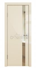 Дверь межкомнатная DO-507 Ваниль глянец/зеркало Бронза