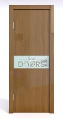 Дверь межкомнатная DO-509 Анегри темный/стекло Белое