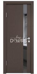 ШИ дверь DO-607 Бронза/стекло Черное