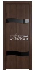 Дверь межкомнатная DO-503 Мокко/стекло Черное