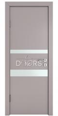 Дверь межкомнатная DO-512 Серый бархат/Снег