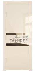 Дверь межкомнатная DO-513 Ваниль глянец/зеркало Бронза