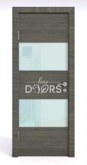 Дверь межкомнатная DO-508 Ольха темная/стекло Белое