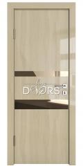 Дверь межкомнатная DO-512 Анегри светлый/зеркало Бронза