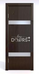 Дверь межкомнатная DO-502 Венге глянец/Снег